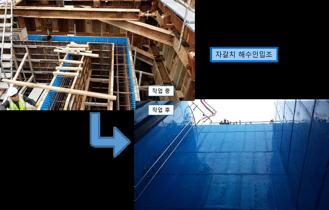 적용사례-신설-자갈치 해수인입조