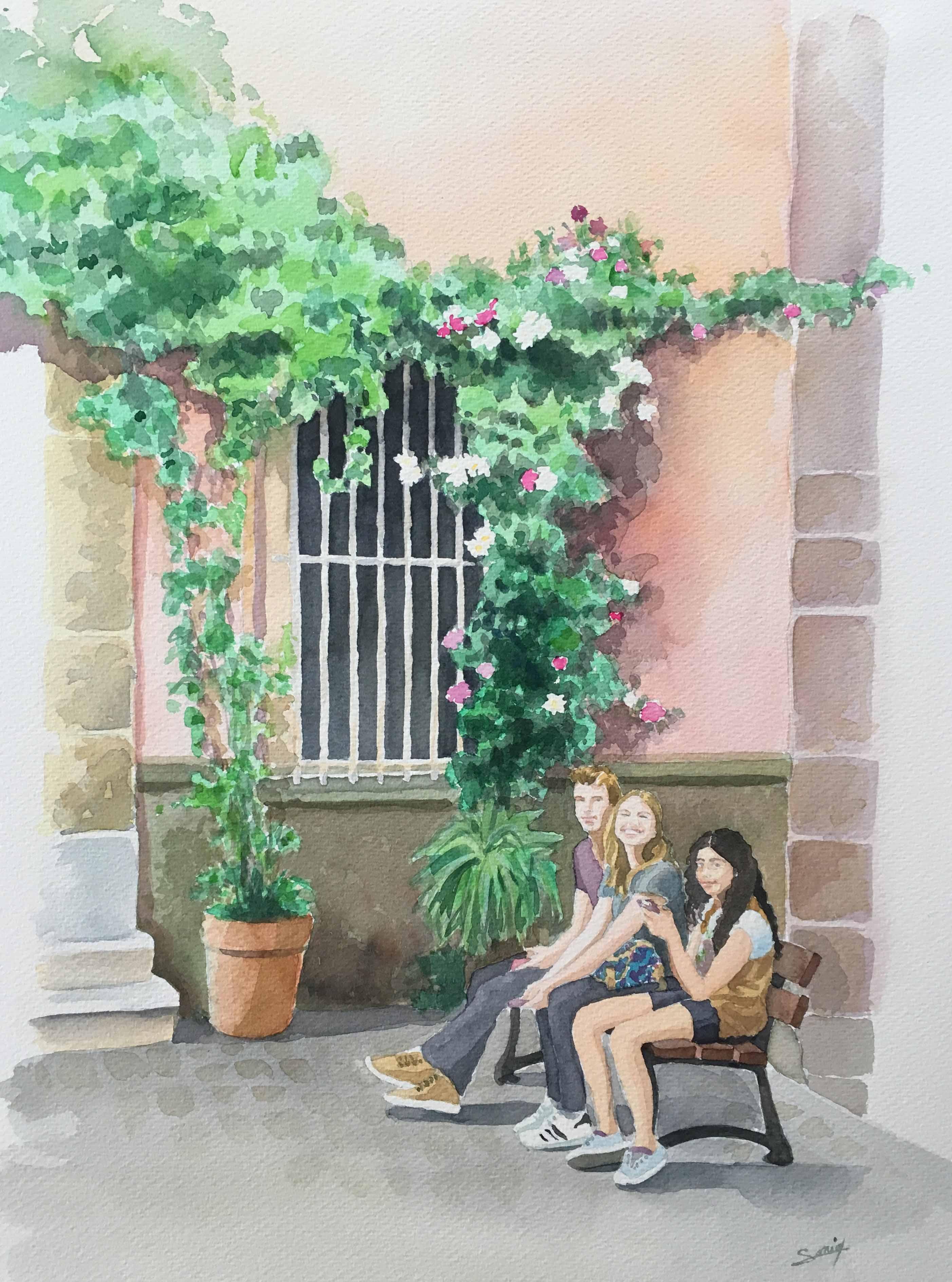 Adolescents à la Cadière d'Azur