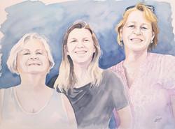 Marie-Anne et sa famille
