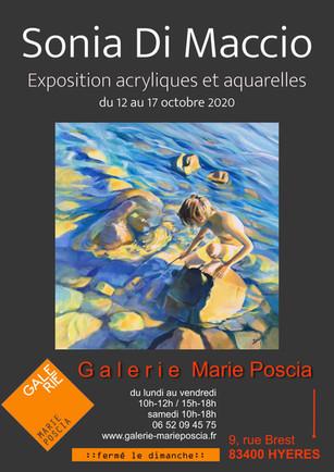 """A la """"galerie Marie Poscia"""" à Hyères-les-palmiers 2020"""