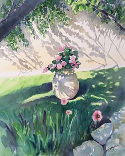Jarre au jardin