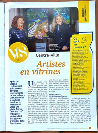 """""""Art en vitrine"""" en période de crise sanitaire à la Seyne-sur-mer 2020"""