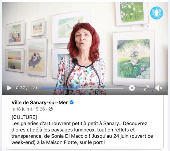 Interview filmée par la mairie de Sanary-sur-mer - 2020