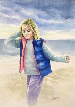 La fillette et la mer