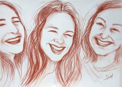 Solène, Lola, Fanny - sanguine