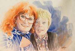 Christine et sa maman