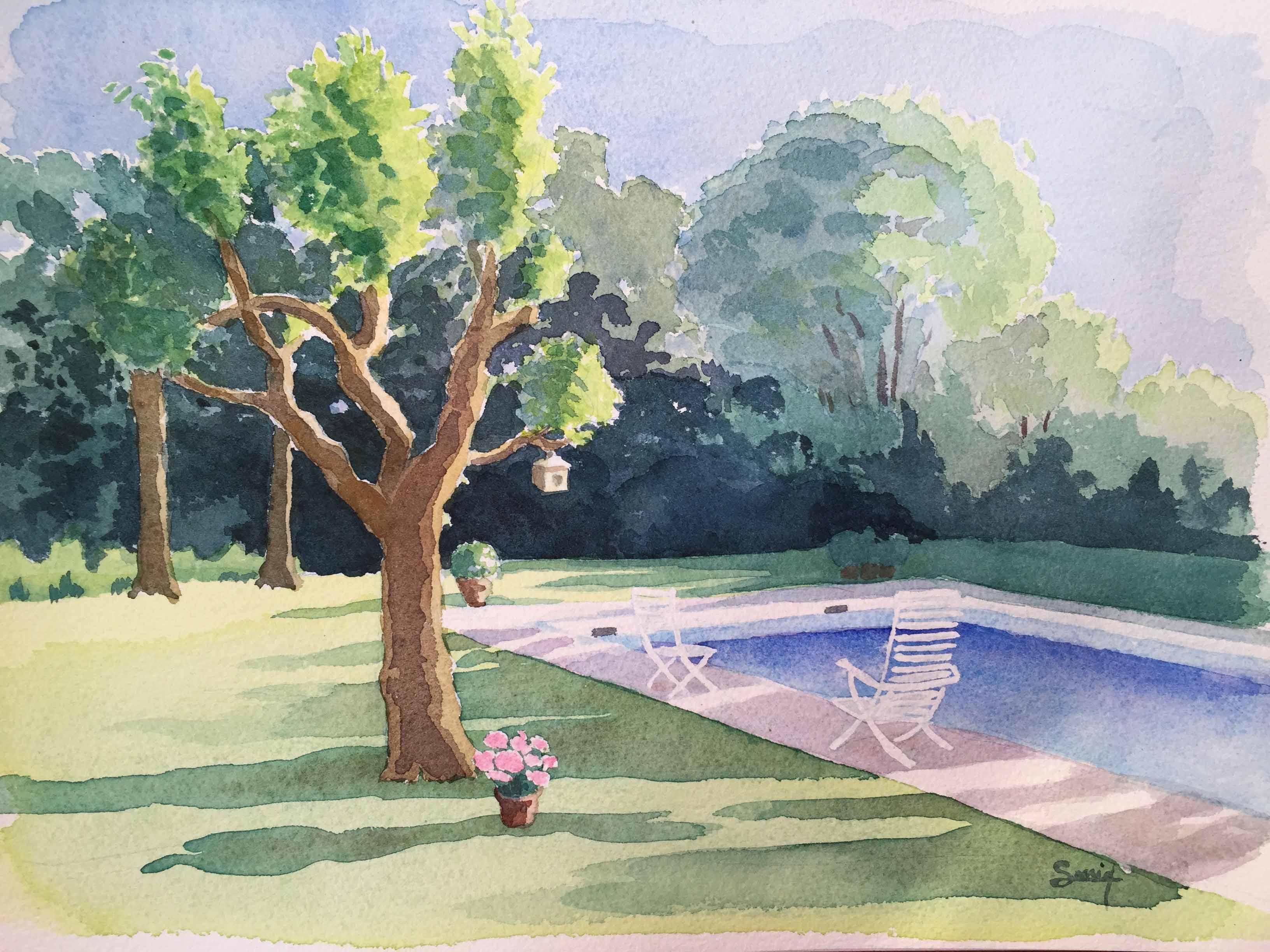 Jardin Privé Château Pape Léon