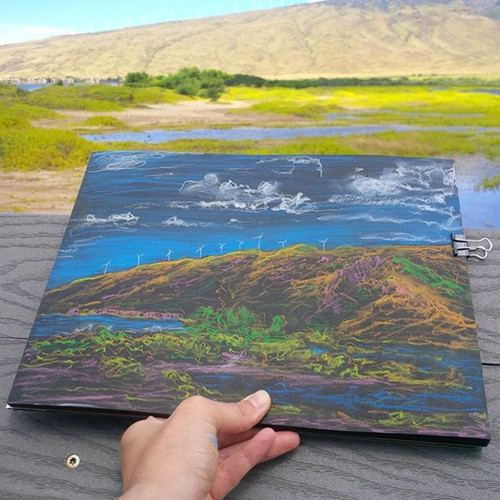 First on site drawing Kealia Pond Maui Hawaii