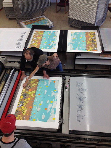 Plate lithography