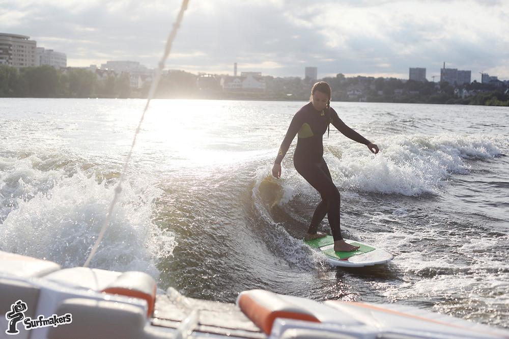 Настоящий серфинг в черте города