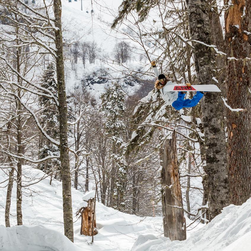 Степан Артемьев на сноуборде