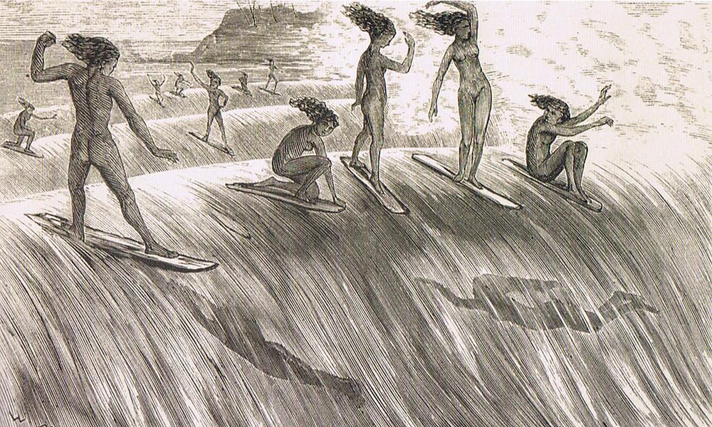 Сёрфинга на Гавайях пару веков назад