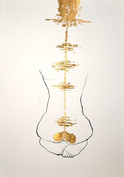 Katarzyna jablonska graphite gold leaf o