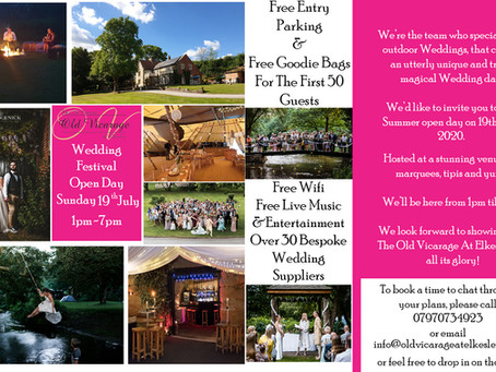 Don't Miss Our Wedding Festival 2020!