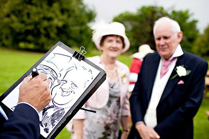 Wedding Caricaturist at The Old Vicarage