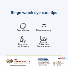 Binge watch eye care tips