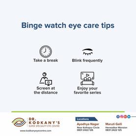 Binge watch eye care tips