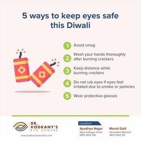 5 Ways to keep eyes safe this Diwali