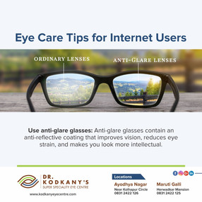 Eye care tips for internet Users