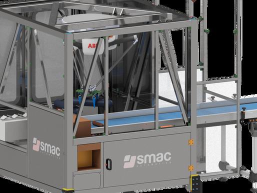 Impianto automatizzato con robot FlexPicker per il prelievo e la pallettizzazione di salami.