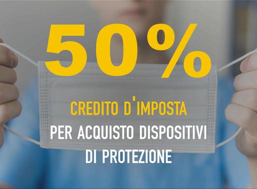 Credito d'imposta per acquisto dispositivi di protezione e sanificazione ambienti di lavoro