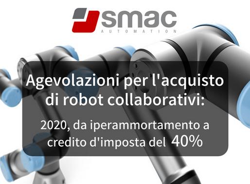 Agevolazioni per l'acquisto di robot collaborativi