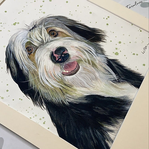 Full Body 12x16 Pet Portrait for the Price of 10x12
