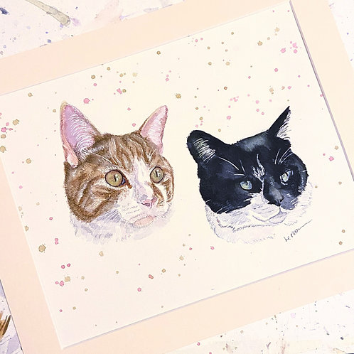 Two Pets - 10x12 for the Price of a 8x10