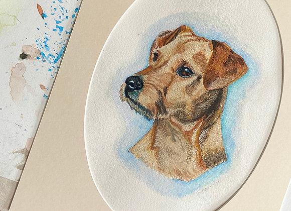 10 x 12 Pet Portrait with 12 x 16 Mount