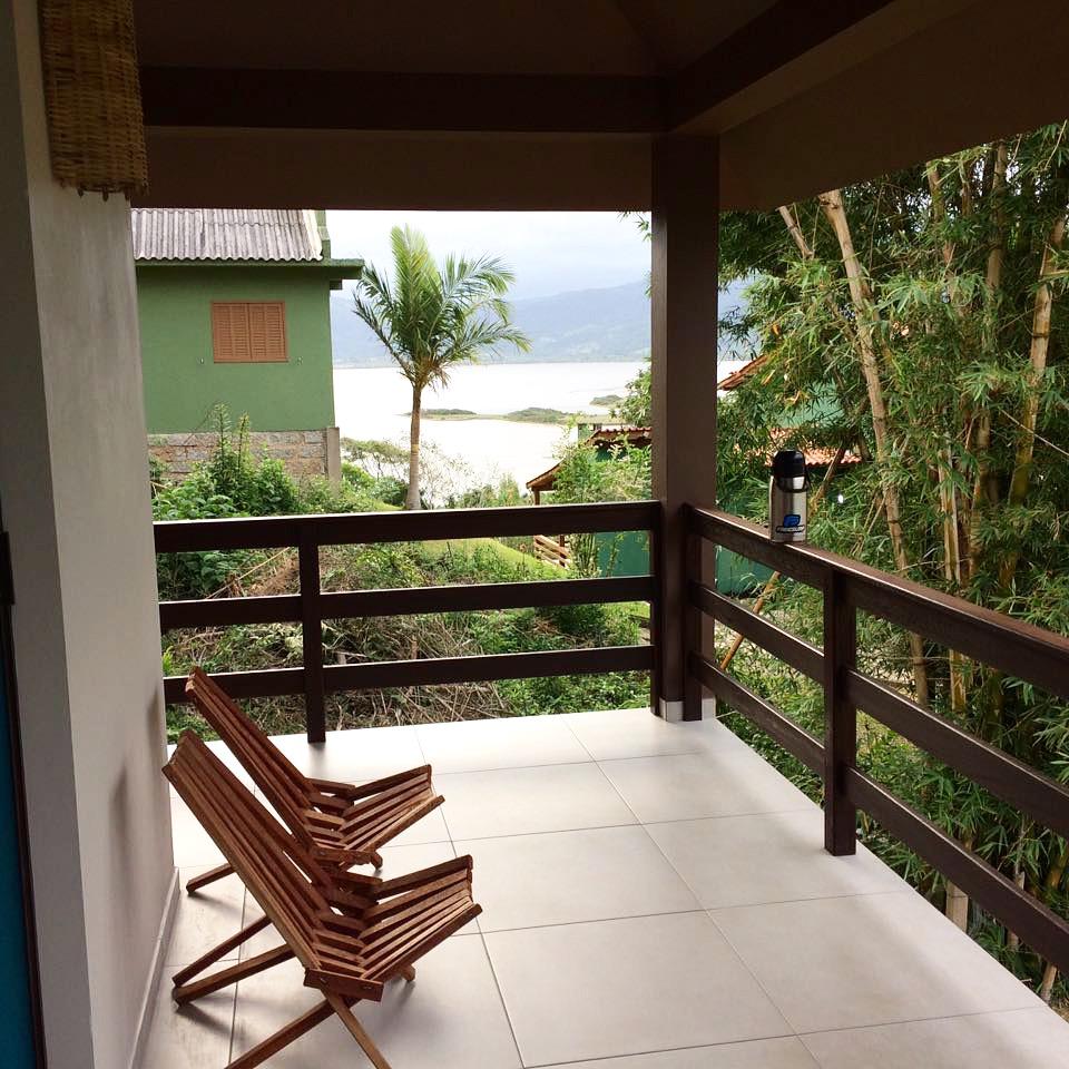 Varanda com vista para Lagoa
