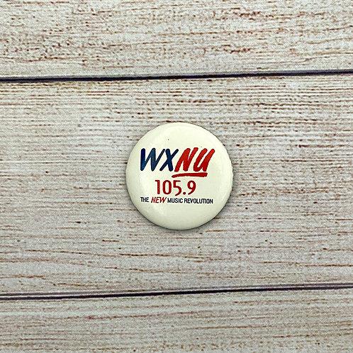 """Vintage 1.75"""" WXNU 105.9 Button"""