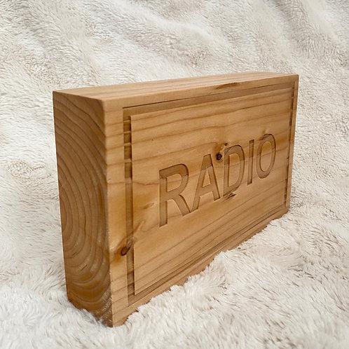 Rustic Radio Desk Sign