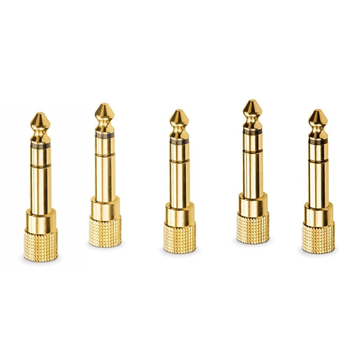 5 Pack Headphone Adapter   6.3mm 1/4 to 3.5mm 1/8