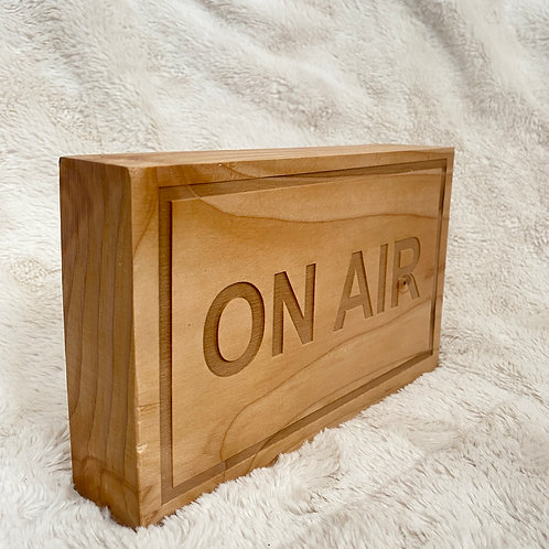 Rustic On-Air Desk Sign