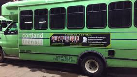 Cortland Transit Bus Advertising.