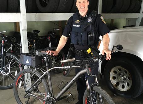 Bicycle on patrol!