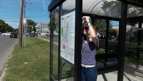 Bus shelter maps going up