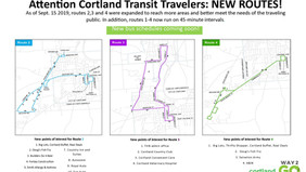 New routes as of Monday
