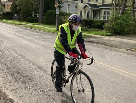 A bicycle commute