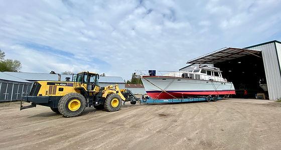 heated storage, hydrolic trailer, boat l