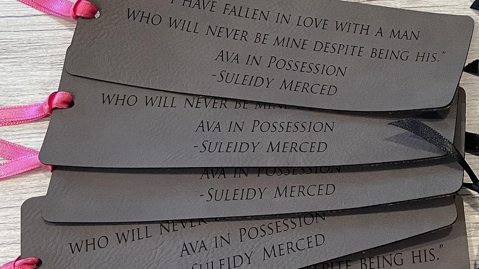 Ava Possession Leather Bookmark