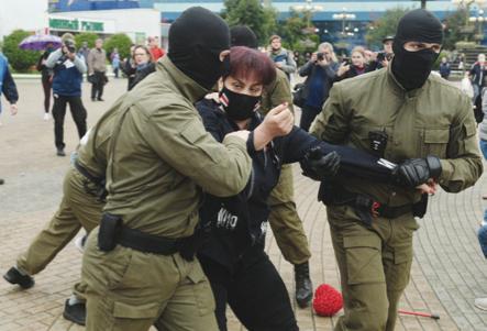 Arrestata l'«eroina» Kolesnikova