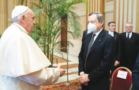 Primo incontro con il Papa