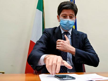 Covid: Speranza, sembra vaccino funzioni. Chi già in Italia deve fare il tampone