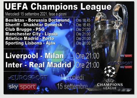 Champions Liverpool-Milan, Real Madrid-Inter LIVE