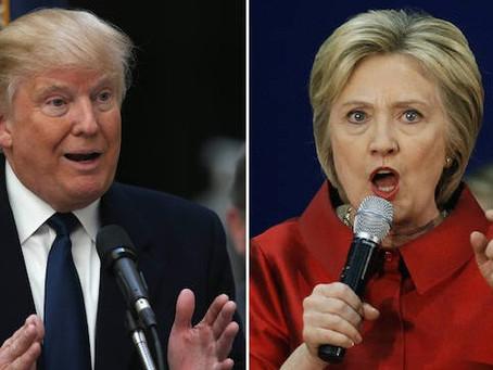Hillary e Trump a confronto