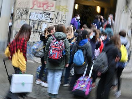 Scuola, dal lunedì quasi 7 milioni di studenti in presenza