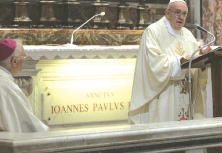 Messa del Papa per Wojtyla
