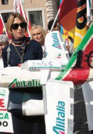 Alitalia ha un debito col governo