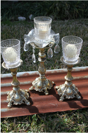 Champagne Candlesticks